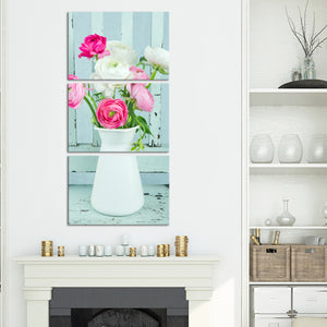 Blossoming Vintage Multi Panel Canvas Wall Art - Shabby_chic