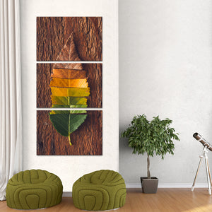 Fall Foliage Multi Panel Canvas Wall Art - Botanical