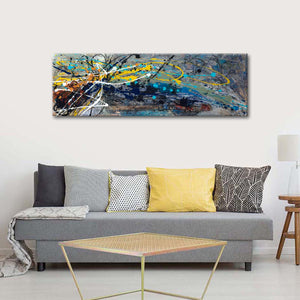Falling To The Ground Multi Panel Canvas Wall Art - Abstract
