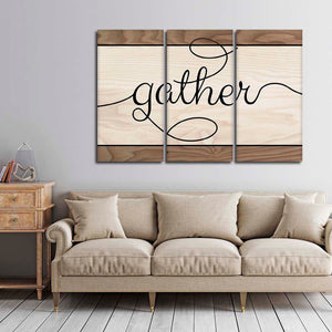 Family Gathering Multi Panel Canvas Wall Art - Inspiration