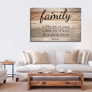 Family Love Canvas Wall Art - Inspiration