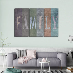 Family Multi Panel Canvas Wall Art - Inspiration