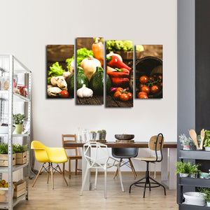 Farm Fresh Multi Panel Canvas Wall Art - Kitchen