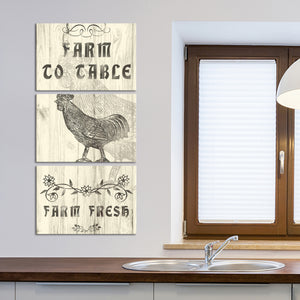 Farm To Table Multi Panel Canvas Wall Art - Kitchen