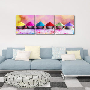 Fascinating Colors Multi Panel Canvas Wall Art - Color