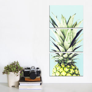 Pineapple Fashion Multi Panel Canvas Wall Art - Pineapple