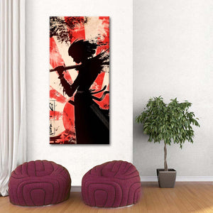 Fearless Samurai Multi Panel Canvas Wall Art - Japan