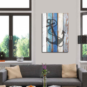 Feeling Anchored Multi Panel Canvas Wall Art - Nautical