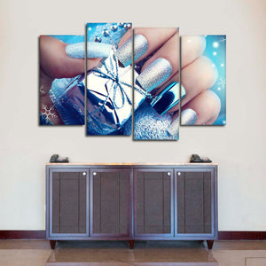 Festive Nails Multi Panel Canvas Wall Art - Nails