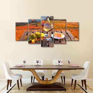 Fine Wine Day Multi Panel Canvas Wall Art - Winery