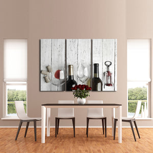 Fine Wining Multi Panel Canvas Wall Art - Winery