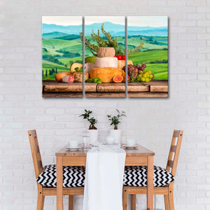 Finest Italian Cheese Multi Panel Canvas Wall Art - Kitchen