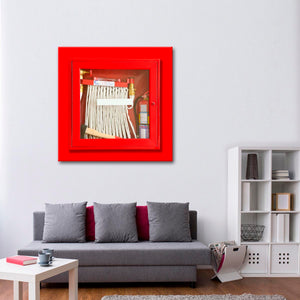 Fire Safety Hose Canvas Wall Art - Firefighters