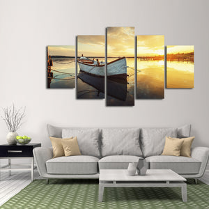 Fishing Boat Multi Panel Canvas Wall Art - Boat