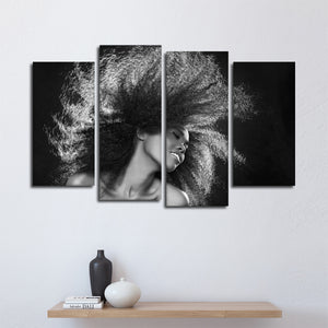 Flaunt It Multi Panel Canvas Wall Art - Hair