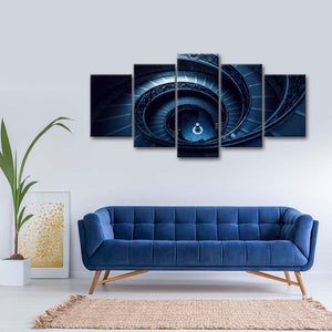 Grand Spiral Staircase Multi Panel Canvas Wall Art - Stairs