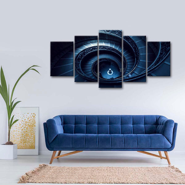 Grand Spiral Staircase Multi Panel Canvas Wall Art