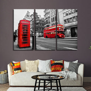 Fleet Street Pop Multi Panel Canvas Wall Art - United_kingdom