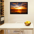 Sunset At Carmel Beach Multi Panel Canvas Wall Art