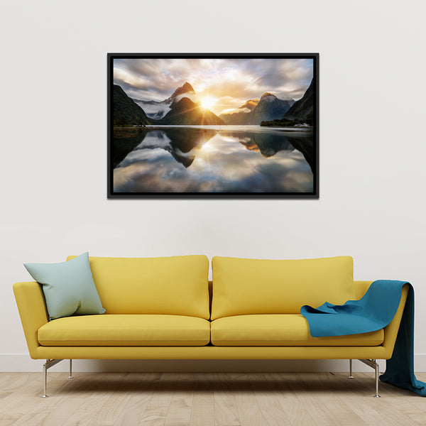 Milford Sound Multi Panel Canvas Wall Art | ElephantStock