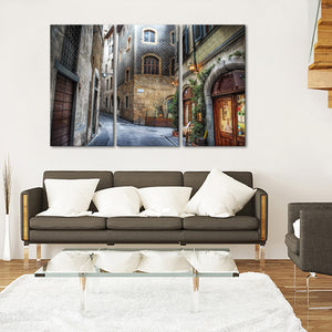 Florence Streets Multi Panel Canvas Wall Art - City