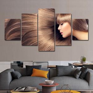 Flowing Hair Multi Panel Canvas Wall Art - Hair