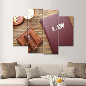Follow the Law Multi Panel Canvas Wall Art - Law