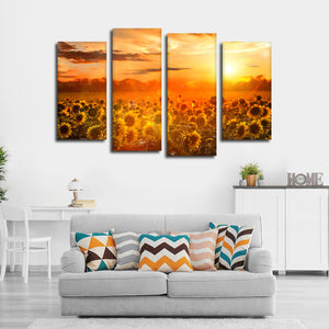 Follow The Sunshine Multi Panel Canvas Wall Art - Flower