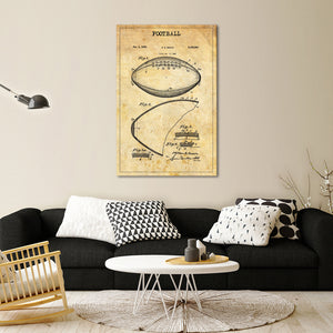 Football 2 Patent Canvas Wall Art - Football