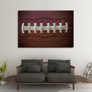 Football Laces Multi Panel Canvas Wall Art - Football