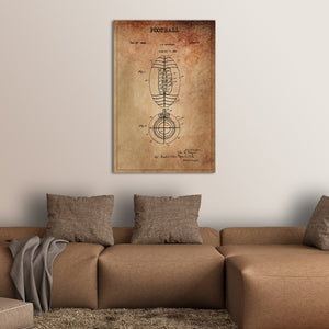 Football Patent Canvas Wall Art - Football