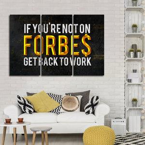 Forbes List Multi Panel Canvas Wall Art - Entrepreneur