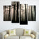 Forest Silhouette Multi Panel Canvas Wall Art