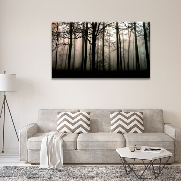 Multi Panel Canvas Wall Art forest silhouette multi panel canvas wall art – elephantstock