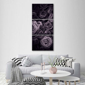 Fragrant Roses Multi Panel Canvas Wall Art - Rose