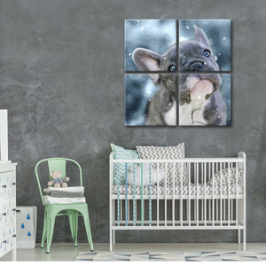 French Bulldog Puppy Multi Panel Canvas Wall Art - Dog