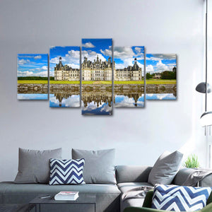 French Castle Multi Panel Canvas Wall Art - Castle