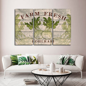 Fresh Kohlrabi Multi Panel Canvas Wall Art - Kitchen