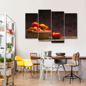Fresh Red Tomatoes Multi Panel Canvas Wall Art - Kitchen