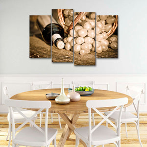From The Vineyard Multi Panel Canvas Wall Art - Winery