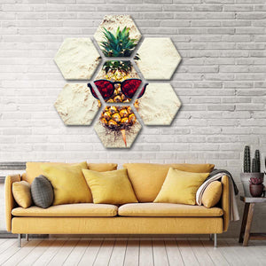 Fruity Shades Multi Panel Canvas Wall Art - Pineapple