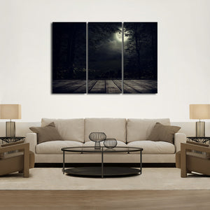 Full Moon Multi Panel Canvas Wall Art - Gothic