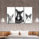 Furry Trio Canvas Set Wall Art