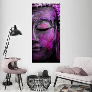 Fuchsia Tides of Tranquility Multi Panel Canvas Wall Art - Buddhism