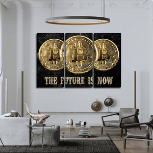 Future Is Now Multi Panel Canvas Wall Art - Entrepreneur