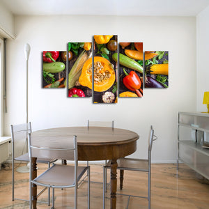 Garden Salad Multi Panel Canvas Wall Art - Kitchen