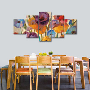 Garden Hues I Multi Panel Canvas Wall Art - Flower