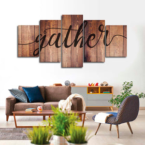 Gather Mahogany Multi Panel Canvas Wall Art - Inspiration