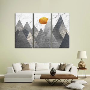 Geometric Himalayas Multi Panel Canvas Wall Art - Geometric
