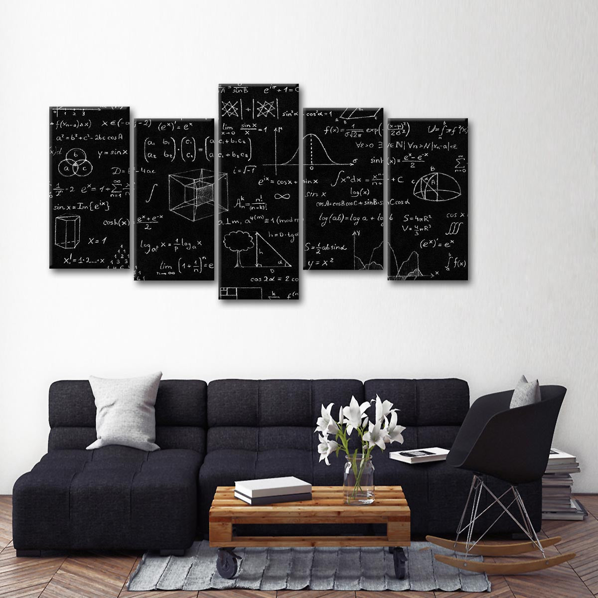 Geometry multi panel canvas wall art elephantstock